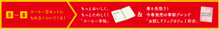 「コーヒー手帖」 今春発売の季節ブレンド「お試しドリップカフェ」1杯分