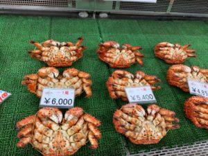 海産物も市場価格で購入が出来ます