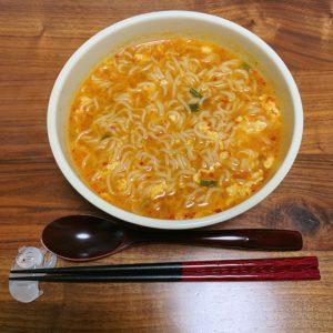 インスタントの宮崎辛辛麺を実食