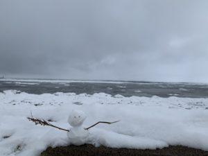 オホーツク海のすぐそばの定食屋さん