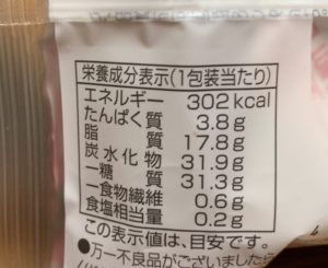 カロリーは302kcal