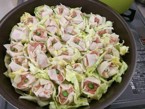 キャベツを敷いてフライパンで蒸すレシピ