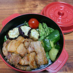 夜ご飯の残りを詰め込んだだけの簡単な残り物弁当