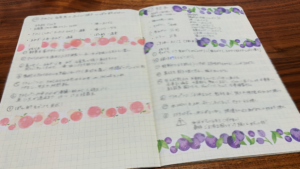 手書きで殺風景だったレシピノートにマスキングテープを貼ってみました