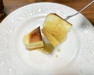 味はチーズ風味のホットケーキ