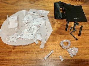 冷やしたら最初に切った型紙を使って生地を型抜き
