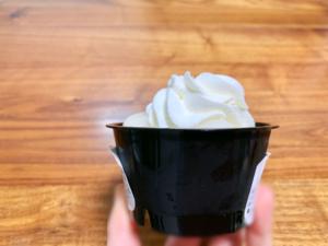 ホイップクリームはしっかりと高さがあり、ボリューミー