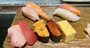 夜ご飯はお寿司。