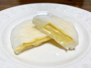 このカスタードクリームはねっとり絡みつくように濃厚に仕上がっています。
