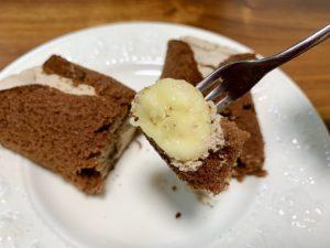 まるごとバナナはのバナナはチョコレートでコーティングされていないので、今回のこちらの新商品のほうが食べ応えがあります。