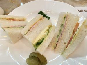 割とシンプルなサンドイッチですが、からしマヨネーズがアクセントになって美味しかったです。