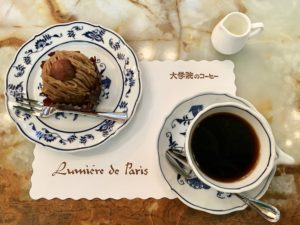 ケーキセット(モンブラン)税込910円