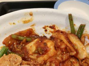 キムチは、国産野菜を使用した松屋特製の富士山キムチ。