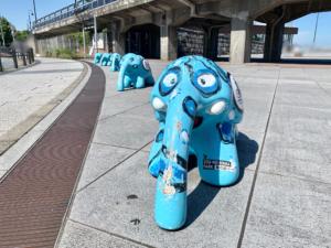 今回は日本大通りや象の鼻パーク、赤レンガ倉庫などを観光後に、コフレでティータイム休憩をとりました。