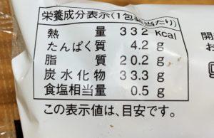 栄養成分、カロリーは332kcal。