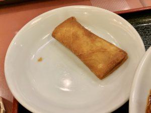 春巻もパリパリで美味しい。 こちらも味付けが甘めなので、激辛麻婆豆腐の合間に食べるとより美味しい!