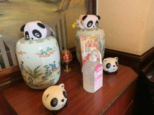 店内にあったパンダの置物