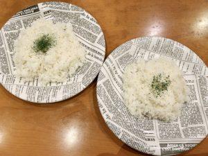 ご飯は大中小から量を選べます。