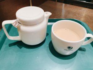 ミルクが多めで、まろやかで美味しいロイヤルミルクティーです。