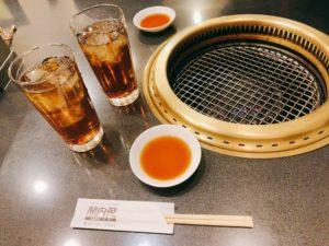 烏龍茶と焼肉のタレ