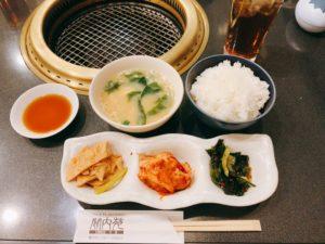 小皿3種、お味噌汁、ご飯