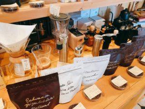 café vivement dimanche(カフェ ヴィヴモン ディモンシュ)ではコーヒー豆や雑貨も販売!