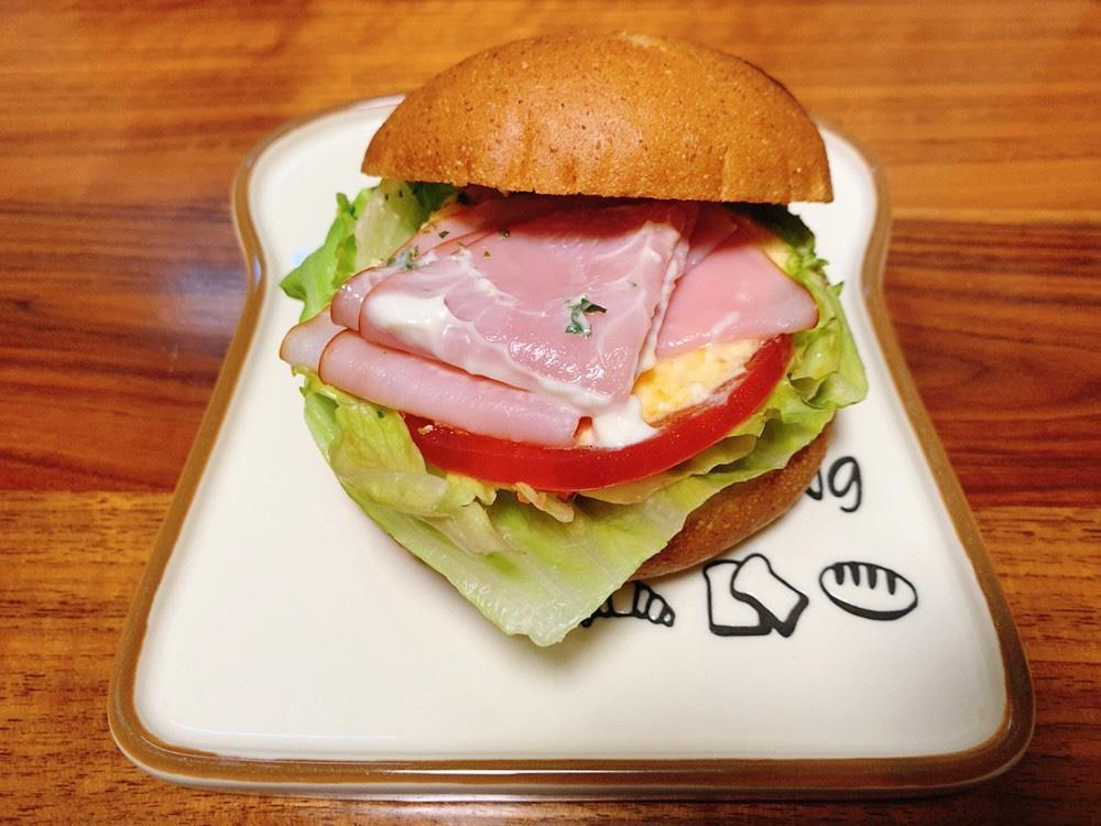 モーニング・セットAのハムタマゴサラダ