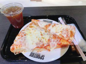 【SPONTINI】ボリューミーなピザを実食!マルゲリータ アンダンテ 税込800円、ドリンクセット アイスティー 100円