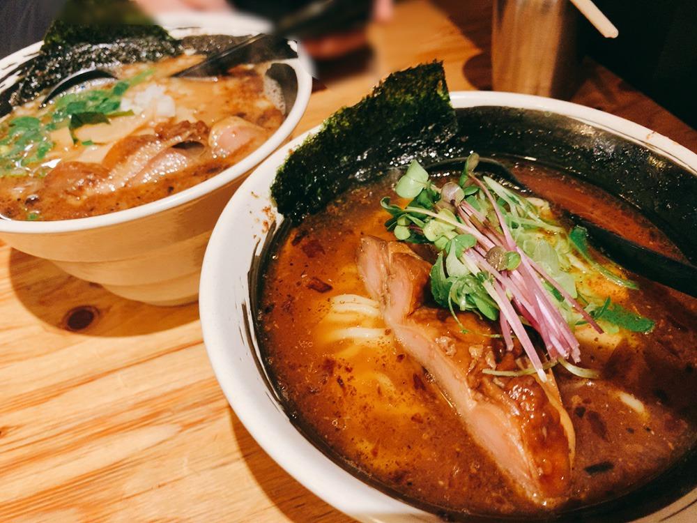 【麺場 浜虎】濃厚ラーメンを実食!浜虎のラーメンのベースは清湯スープと鶏白湯スープ。
